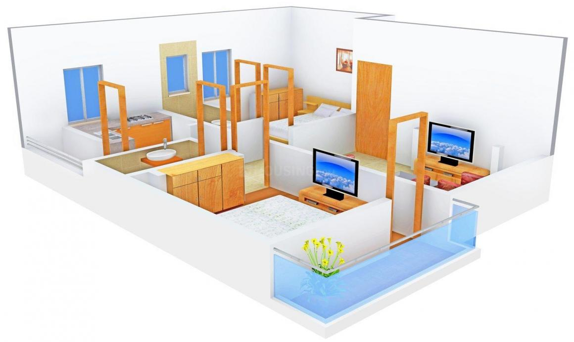 Floor Plan Image of 0 - 641 Sq.ft 2 BHK Apartment for buy in Durai Anbu Nager