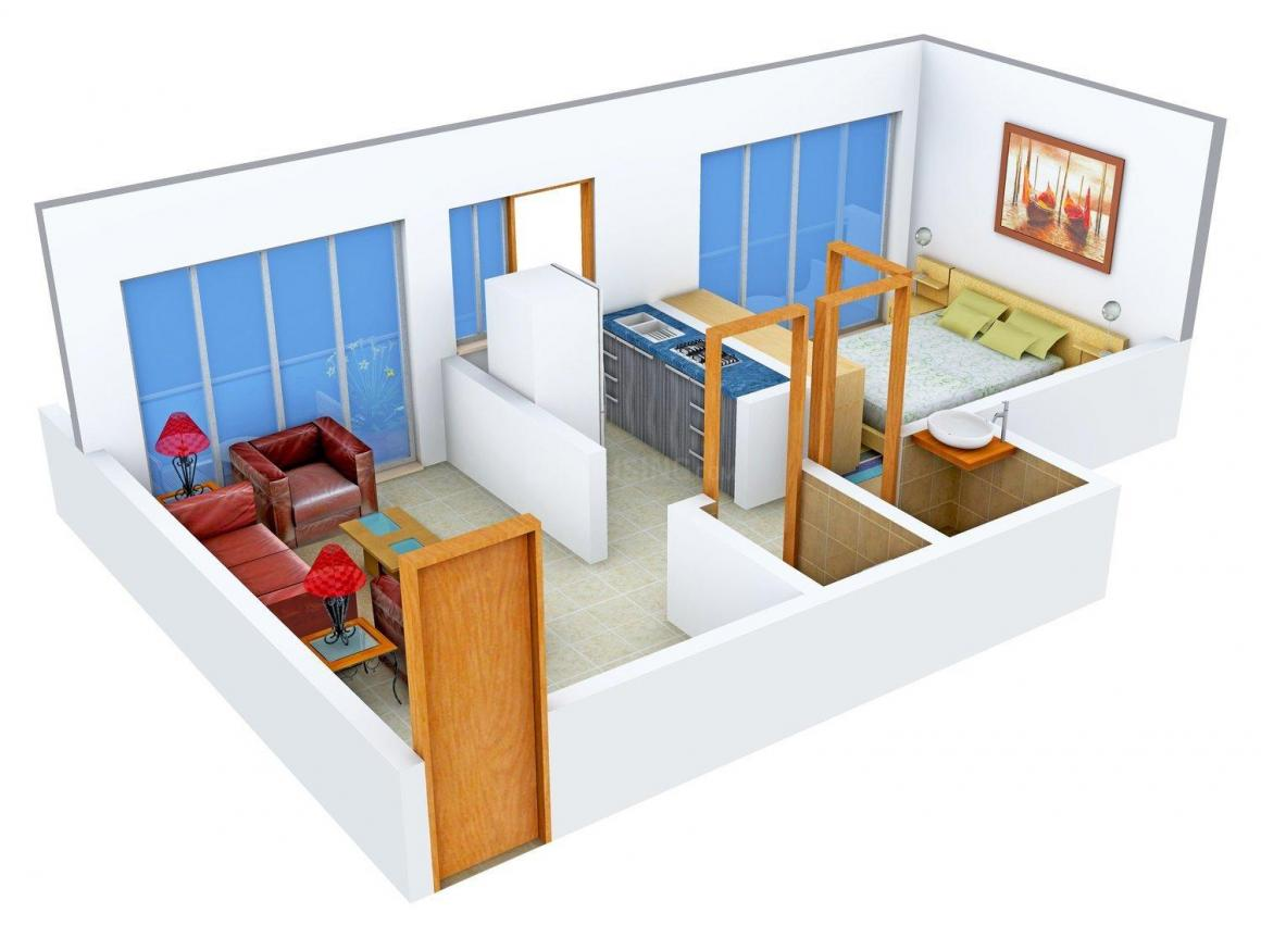Floor Plan Image of 560.0 - 585.0 Sq.ft 1 BHK Apartment for buy in Pinnacle Blossom