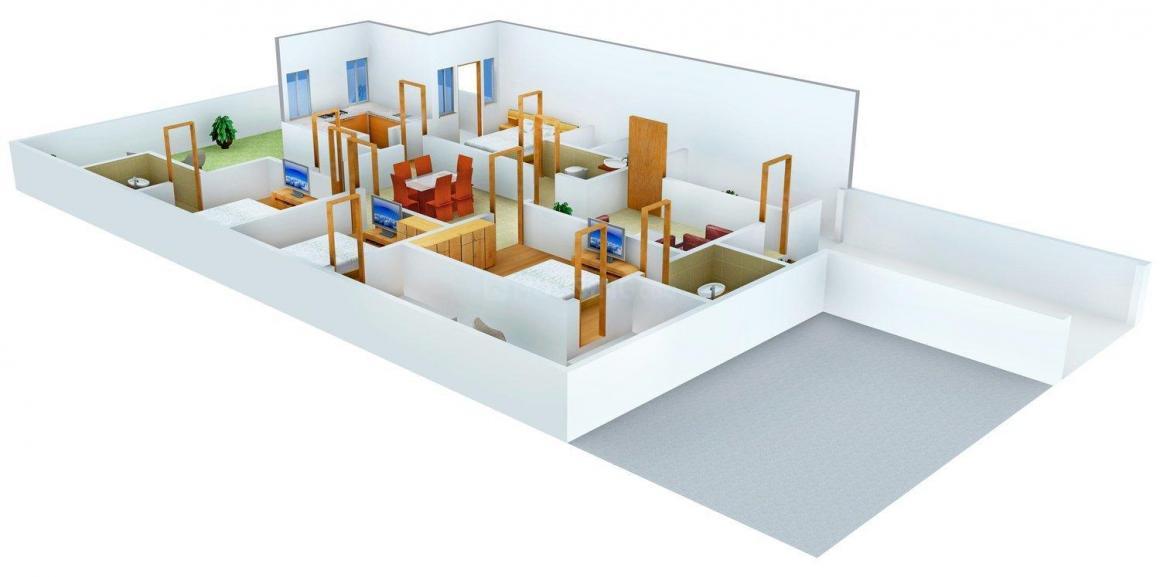 Ishaadi floors 11 Floor Plan: 4 BHK Unit with Built up area of 2700 sq.ft 1
