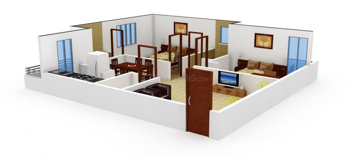 Basani LN Residency  Floor Plan: 2 BHK Unit with Built up area of 1150 sq.ft 1