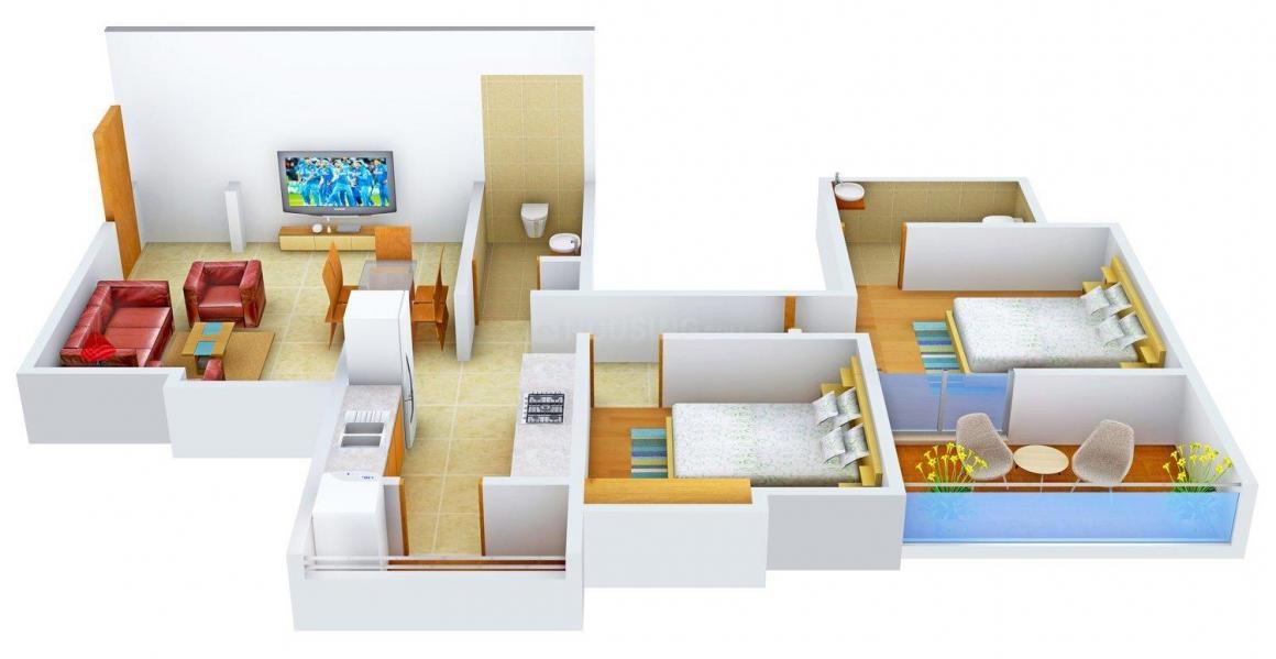 Floor Plan Image of 1050.0 - 1410.0 Sq.ft 2 BHK Apartment for buy in Prapti Scrum Utkrash