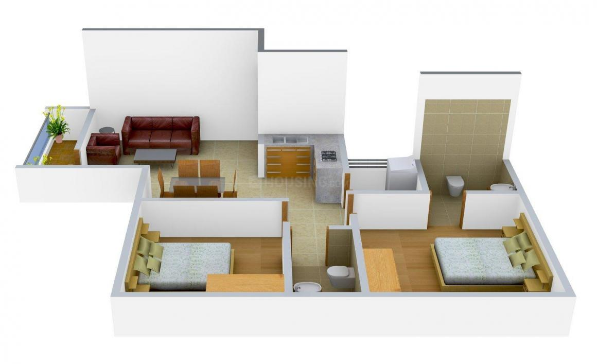 Floor Plan Image of 0 - 1075 Sq.ft 2 BHK Apartment for buy in Shivam Enclave