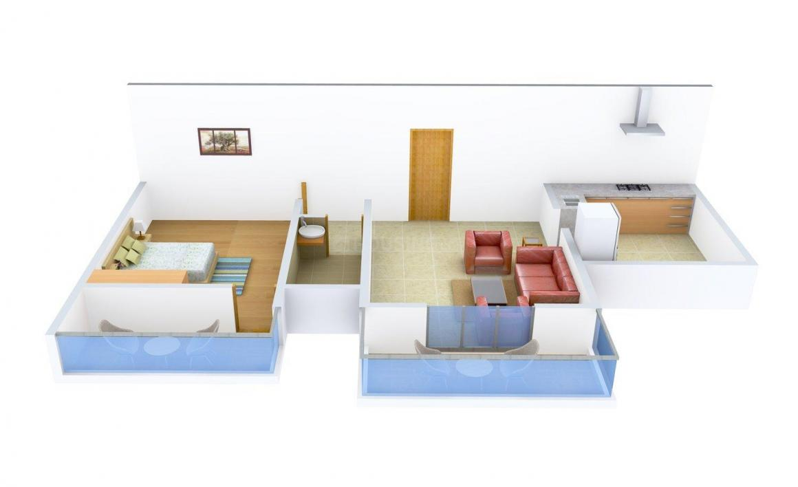 Floor Plan Image of 872.0 - 1696.0 Sq.ft 1 BHK Apartment for buy in Felicity Port Tower