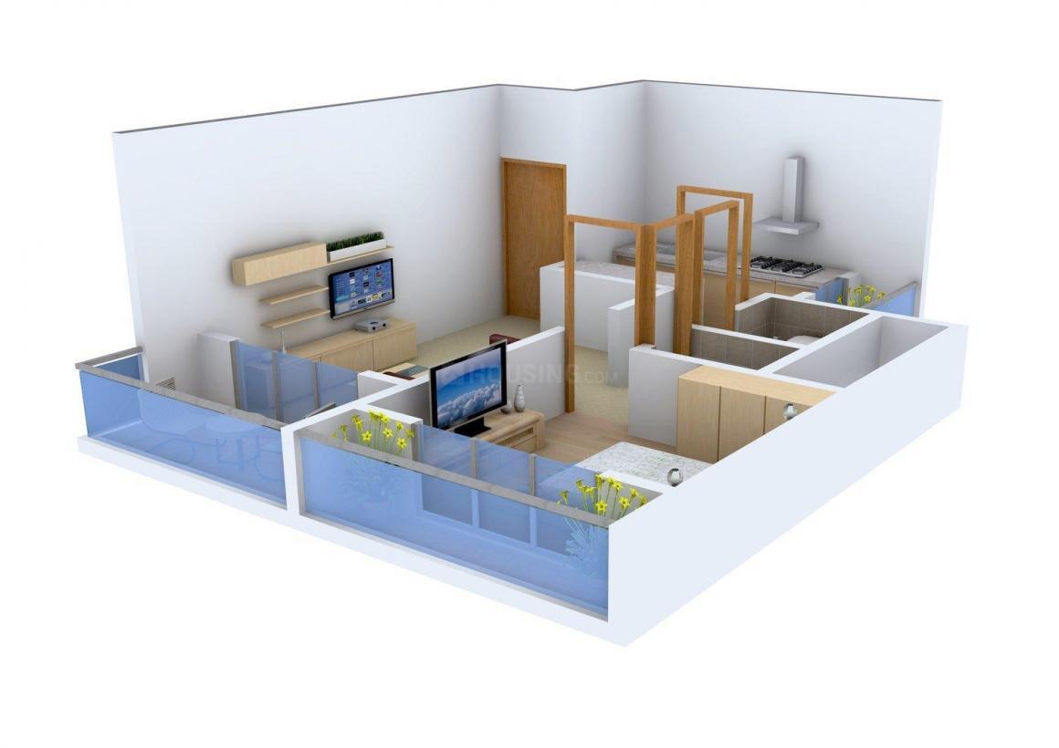 Floor Plan Image of 0 - 680.0 Sq.ft 1 BHK Apartment for buy in Tulip Siddhivinayak Co.Hsg.Soc.