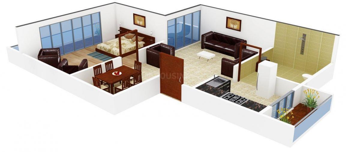 Floor Plan Image of 0 - 520.0 Sq.ft 1 BHK Apartment for buy in Jyoti Gauri Gajanan