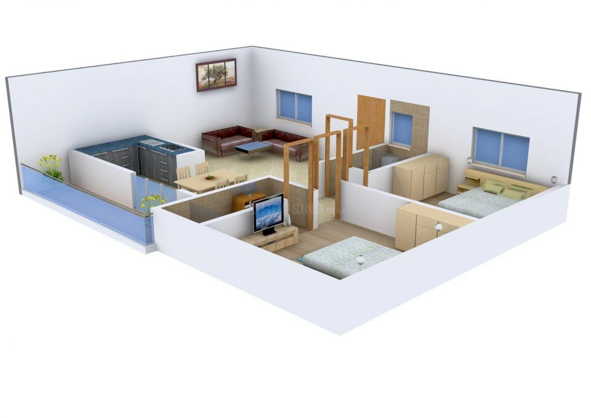 Floor Plan Image of 1180 - 1590 Sq.ft 2 BHK Apartment for buy in Preeminent  Dhanush Grand