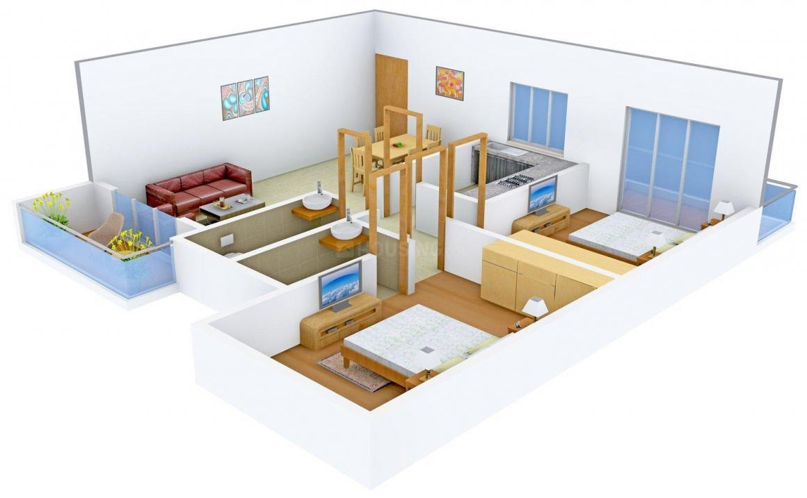 Floor Plan Image of 1066.0 - 2024.0 Sq.ft 2 BHK Apartment for buy in Models Heights
