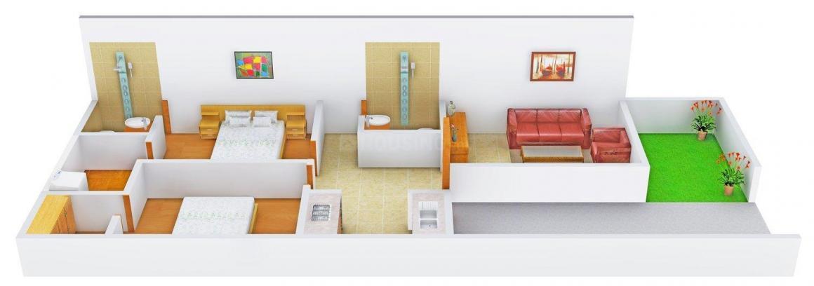 Floor Plan Image of 855.0 - 1600.0 Sq.ft 2 BHK Villa for buy in Kiran Enclave Villa