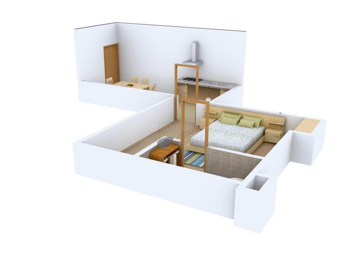 Floor Plan Image of 718 - 2005 Sq.ft 1 BHK Apartment for buy in Anila Live Gagan