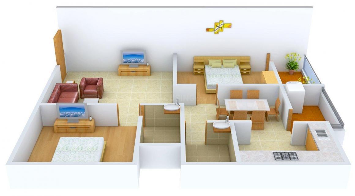 Floor Plan Image of 1200 - 1465 Sq.ft 2 BHK Apartment for buy in Sairamineni ACR Lifestyle