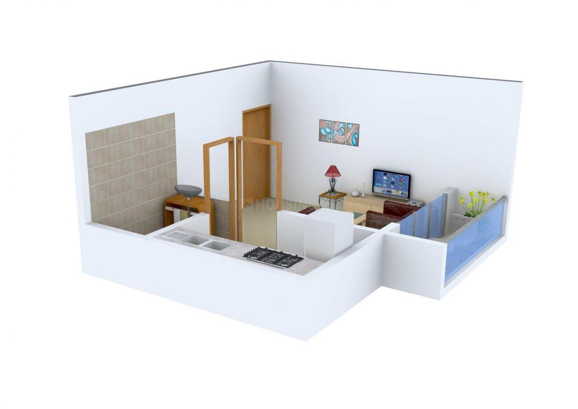 Floor Plan Image of 415.0 - 636.0 Sq.ft 1 RK Apartment for buy in Shiv Sai Complex