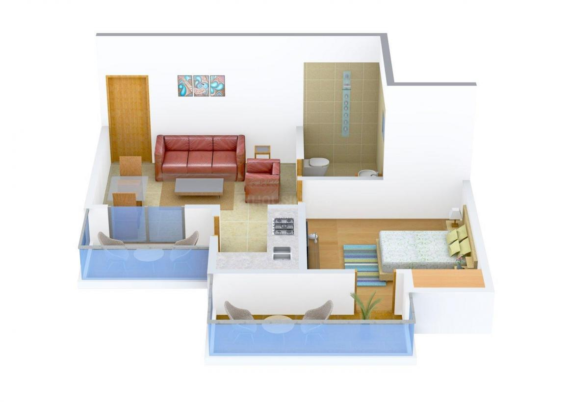 Floor Plan Image of 0 - 720 Sq.ft 1 BHK Apartment for buy in Sunny Excotica