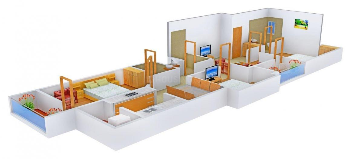 Floor Plan Image of 0 - 1390.0 Sq.ft 3 BHK Apartment for buy in Thulliam TSI Pride