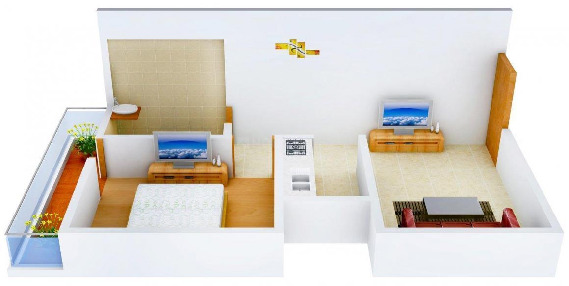 Floor Plan Image of 0 - 450.0 Sq.ft 1 BHK Independent Floor for buy in Shree Homes - II