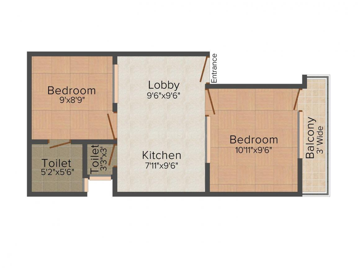 Floor Plan Image of 0 - 500.0 Sq.ft 2 BHK Independent Floor for buy in Gupta Apartment 2