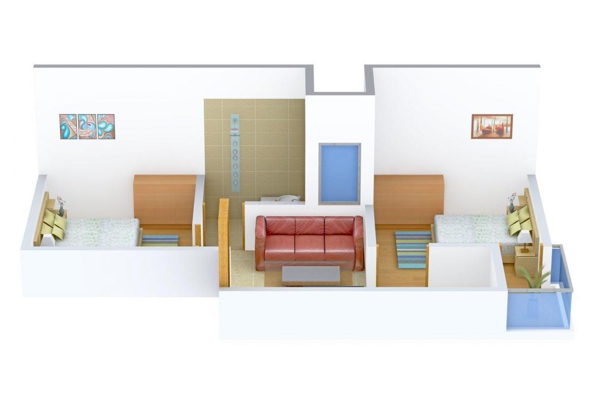 Floor Plan Image of 360.0 - 540.0 Sq.ft 2 BHK Independent Floor for buy in Gola Floors II