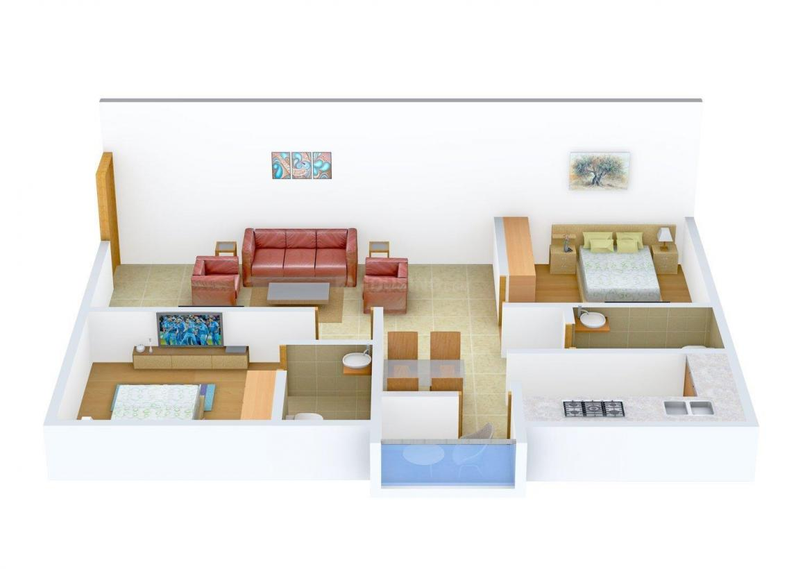 Floor Plan Image of 920.0 - 945.0 Sq.ft 2 BHK Apartment for buy in Surath Silver Shades