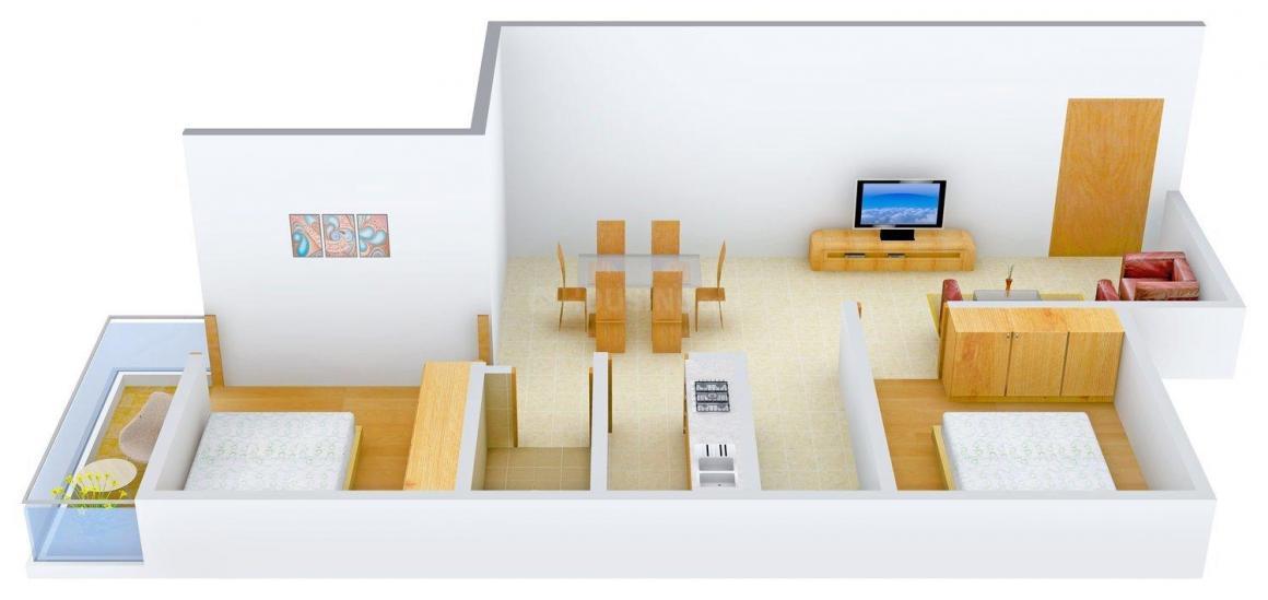 Floor Plan Image of 1046.0 - 1314.0 Sq.ft 2 BHK Apartment for buy in G.K Leela City Garden