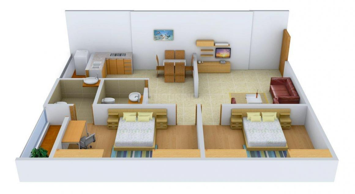 Floor Plan Image of 1150.0 - 1325.0 Sq.ft 2 BHK Apartment for buy in S And S Srikanth Enclave