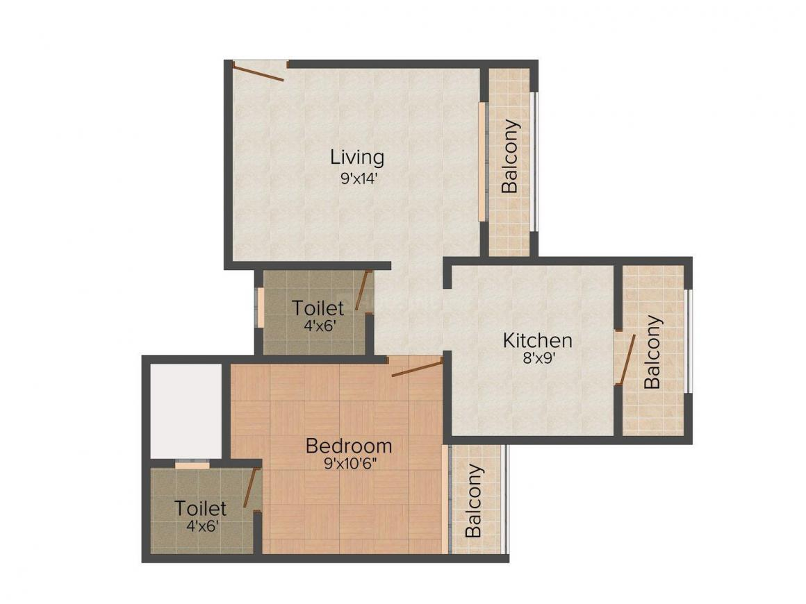 Floor Plan Image of 480.0 - 840.0 Sq.ft 1 BHK Apartment for buy in Dalal Group Sadashiv Puram