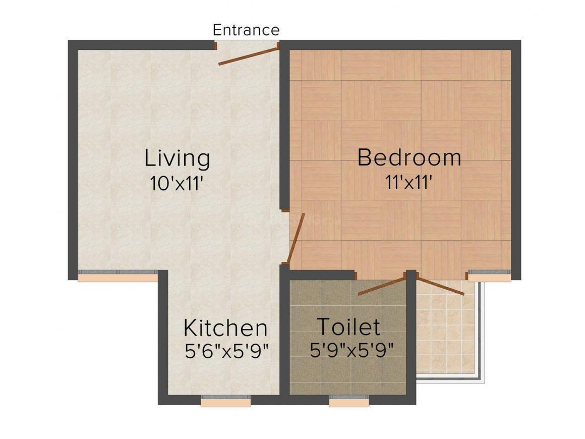 Floor Plan Image of 0 - 450 Sq.ft 1 BHK Independent Floor for buy in Jai Durgesh Home-5