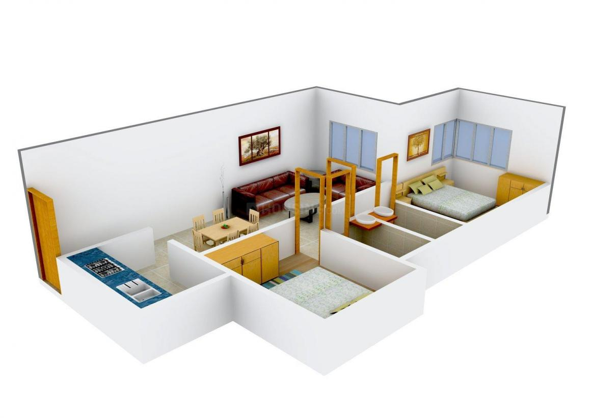 Floor Plan Image of 690 - 1200 Sq.ft 2 BHK Apartment for buy in SD Bhalerao Shantiniketan