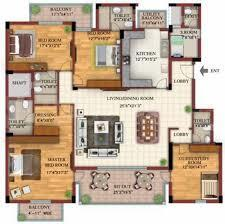 DLF Town Houses Floor Plan: 4 BHK Unit with Built up area of 3800 sq.ft 1