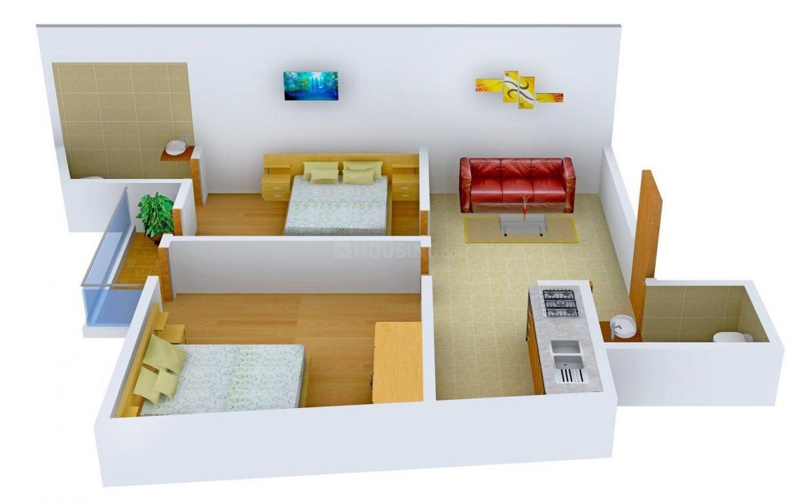 Floor Plan Image of 0 - 783 Sq.ft 2 BHK Independent Floor for buy in Balaji Phase 2