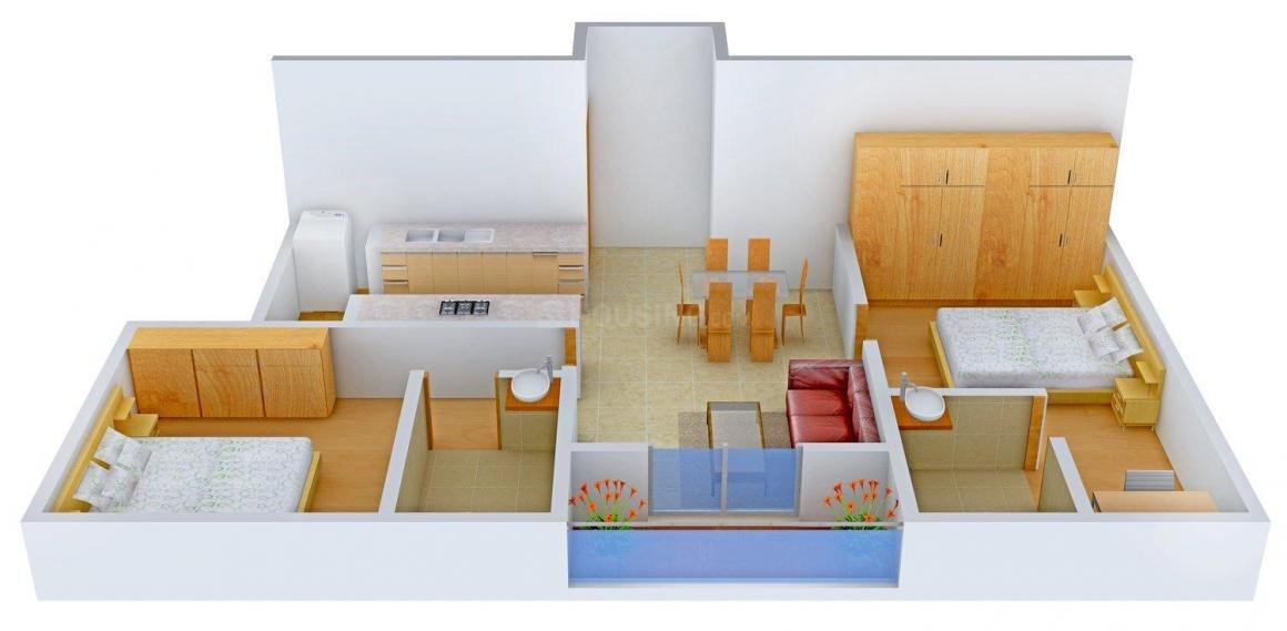 Floor Plan Image of 975 - 1212 Sq.ft 2 BHK Apartment for buy in Vivansaa Aurigaa