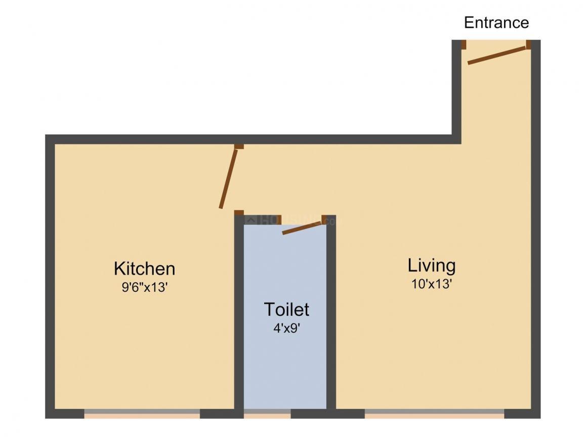 Floor Plan Image of 450.0 - 625.0 Sq.ft 1 RK Apartment for buy in Sai Ram Sukrya Sadan
