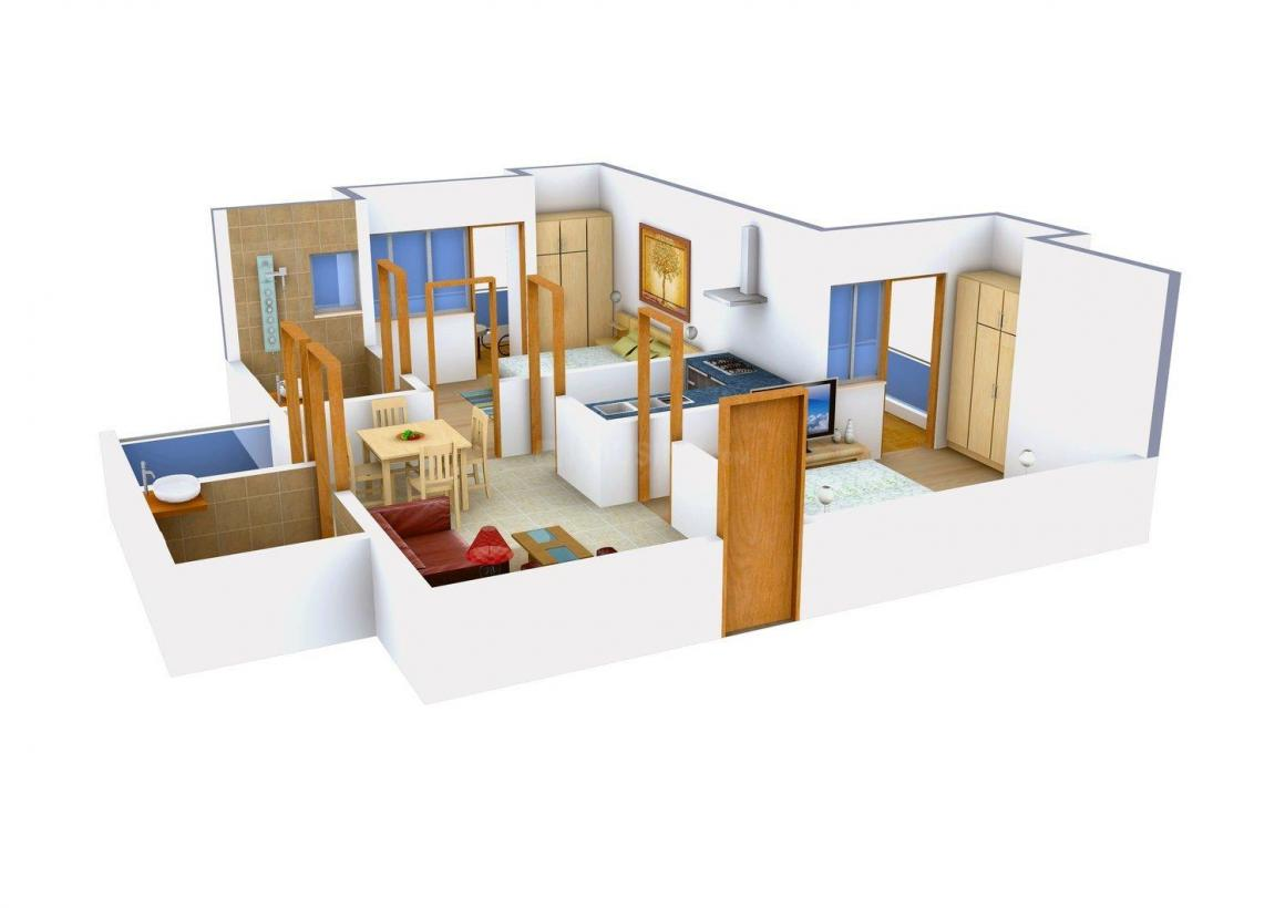 Floor Plan Image of 0 - 942 Sq.ft 2 BHK Apartment for buy in Nirman Homes