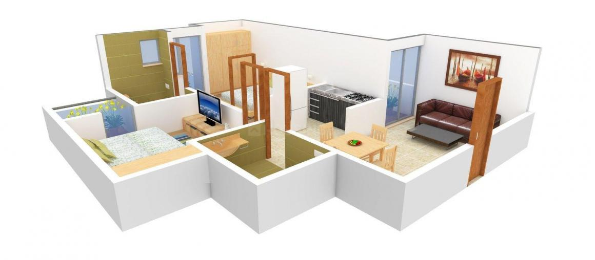 Floor Plan Image of 950 - 1880 Sq.ft 2 BHK Apartment for buy in JNC The Park