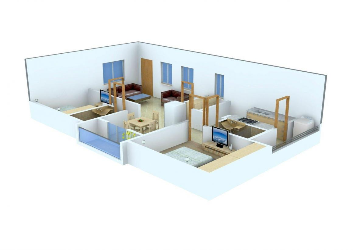 Floor Plan Image of 1125.0 - 1140.0 Sq.ft 2 BHK Apartment for buy in SVS Royal Crystal