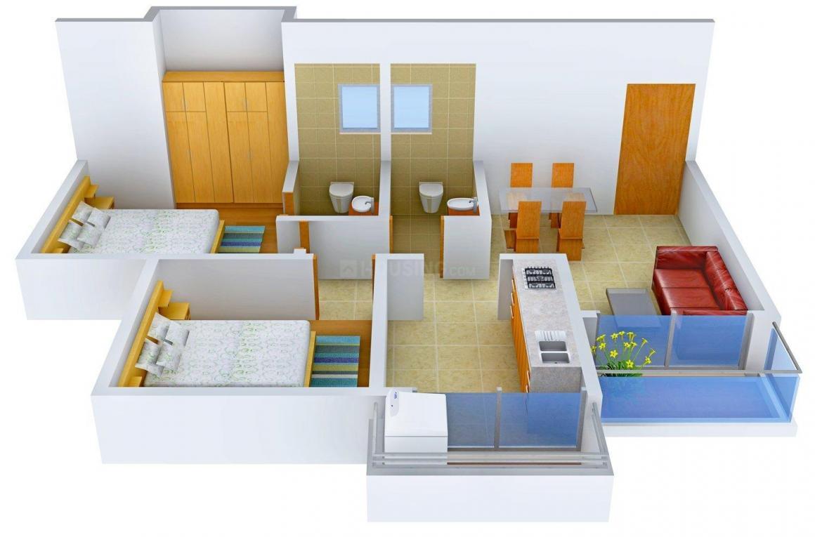 Vikas Dev Sammet Floor Plan: 2 BHK Unit with Built up area of 1260 sq.ft 1
