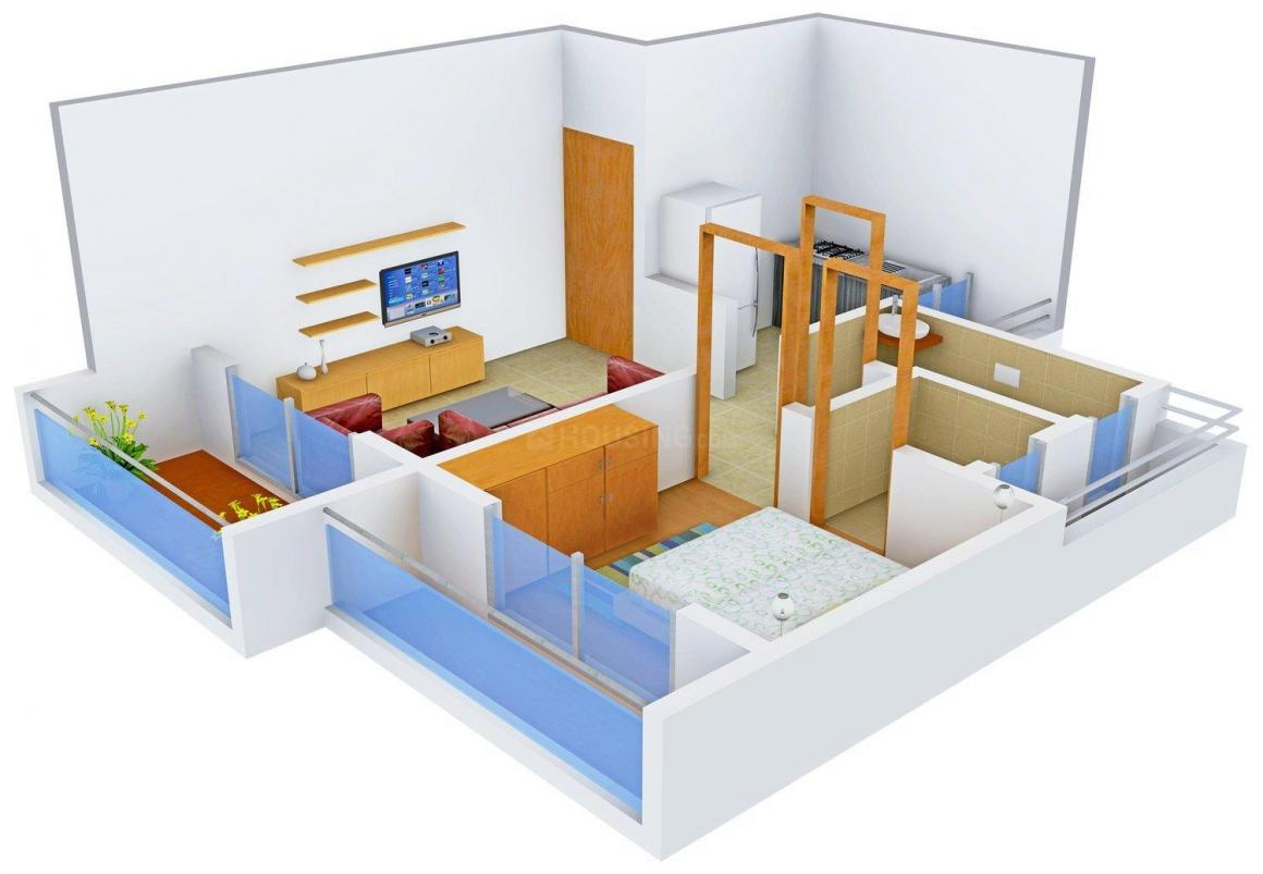 Floor Plan Image of 0 - 345.0 Sq.ft 1 BHK Apartment for buy in Castel Arcade