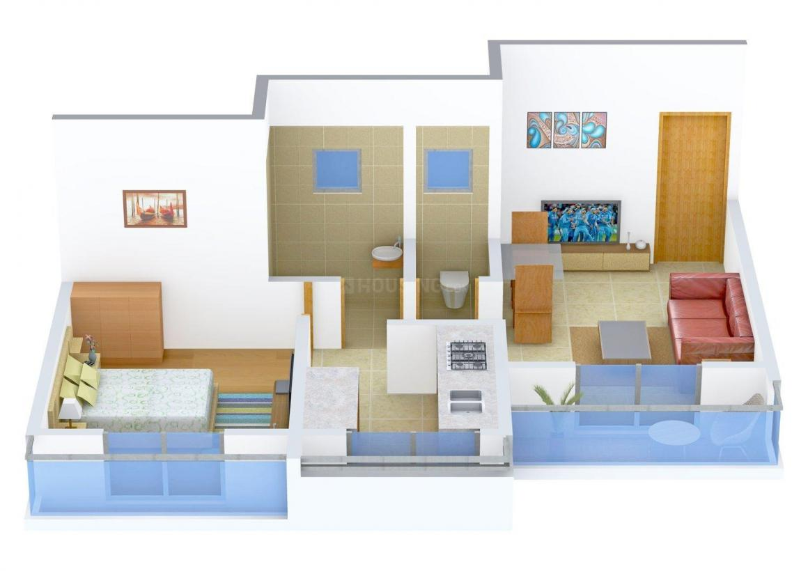 Floor Plan Image of 630.0 - 1165.0 Sq.ft 1 BHK Apartment for buy in Sai Rydam Shree Yashwant Empire