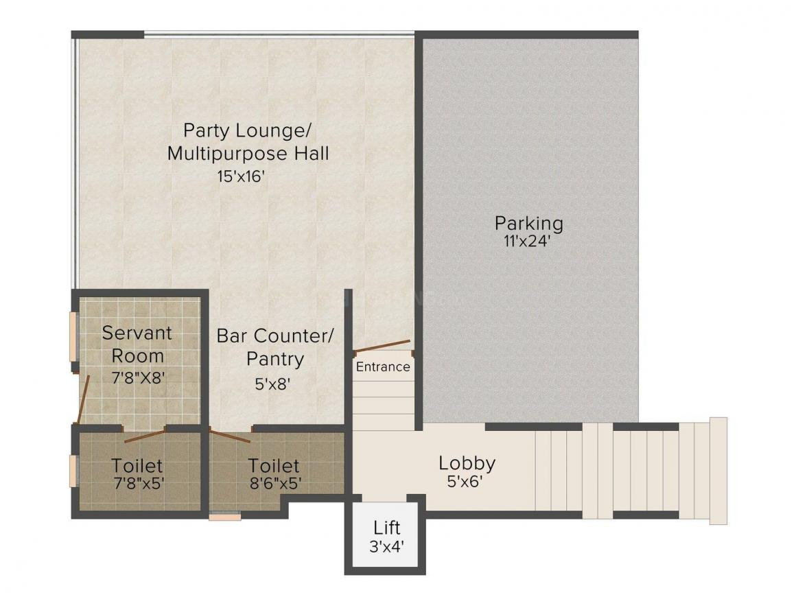 Niche Majestic Villas Floor Plan: 3 BHK Unit with Built up area of 7213 sq.ft 1