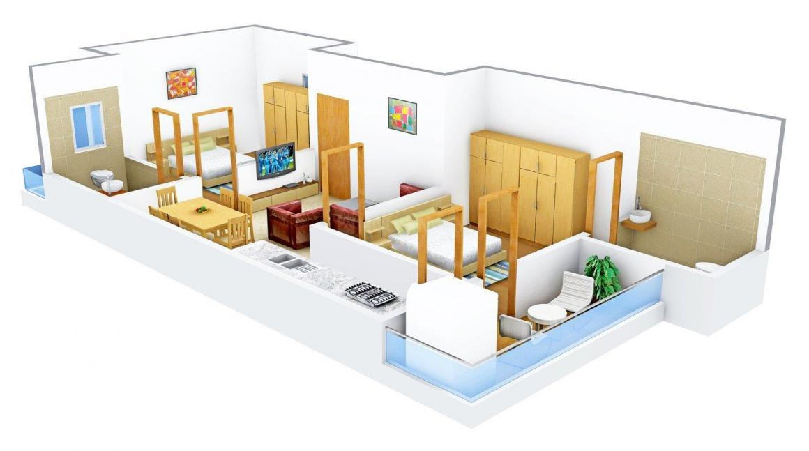 Floor Plan Image of 0 - 1000.0 Sq.ft 2 BHK Independent Floor for buy in Punit Homes - 9
