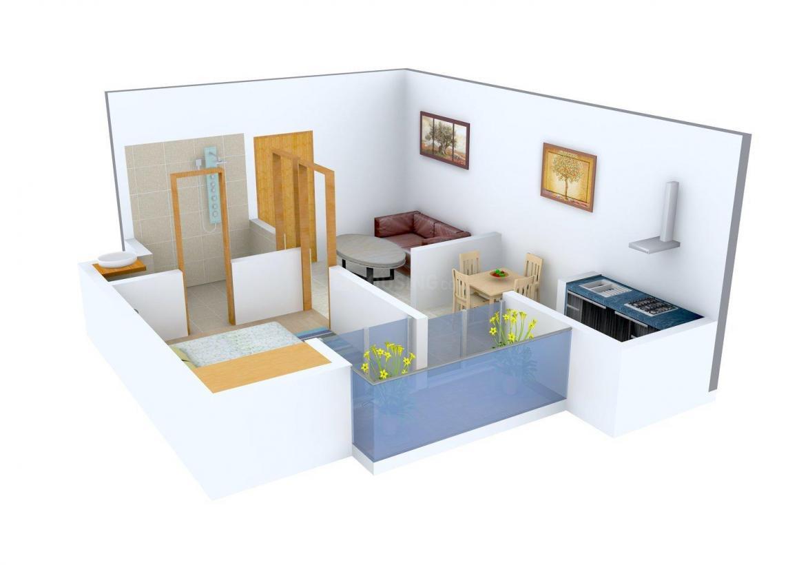 Aditya GZB Celebrity Homes Floor Plan: 1 BHK Unit with Built up area of 550 sq.ft 1