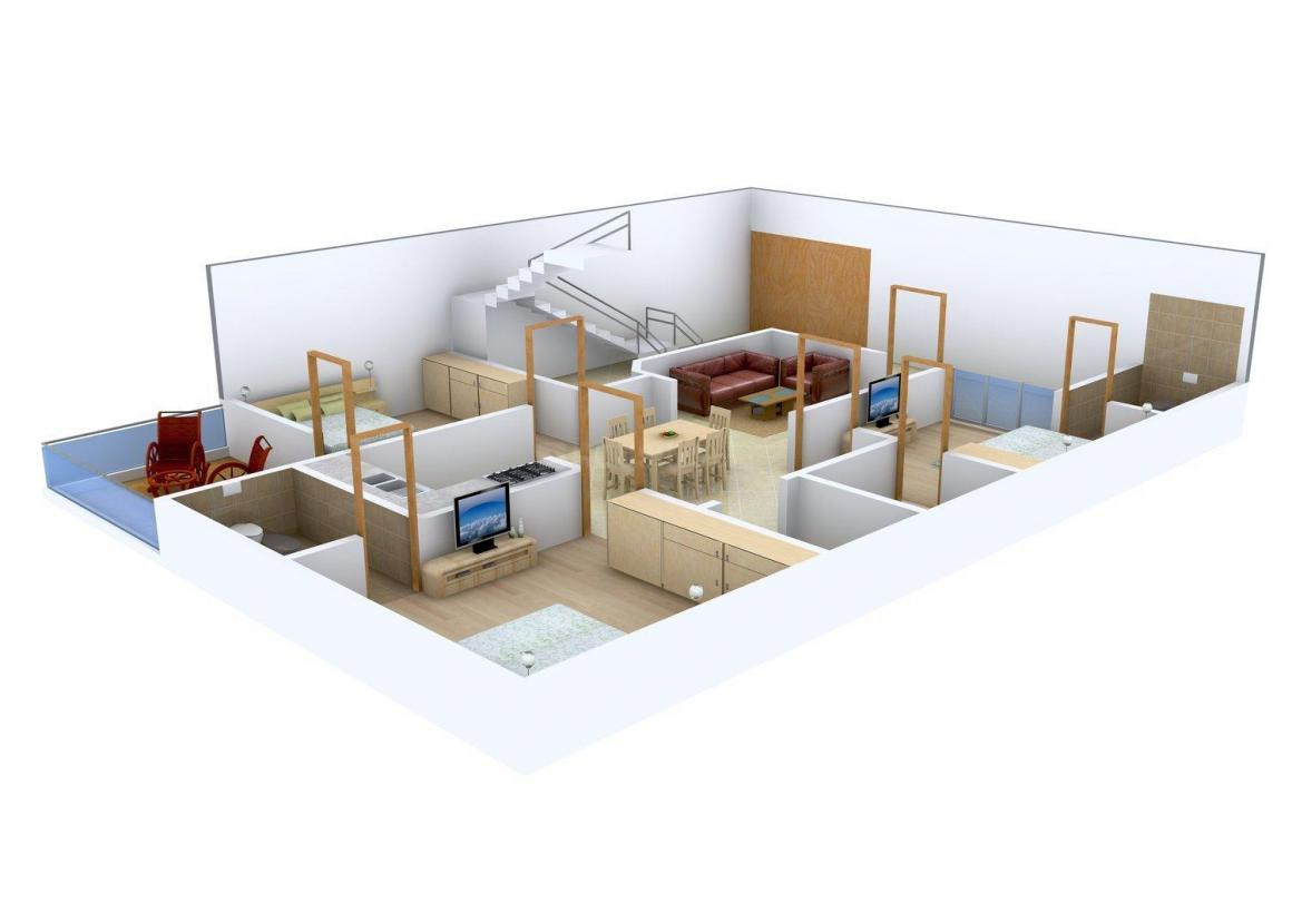JKM Homes Floor Plan: 3 BHK Unit with Built up area of 2250 sq.ft 1