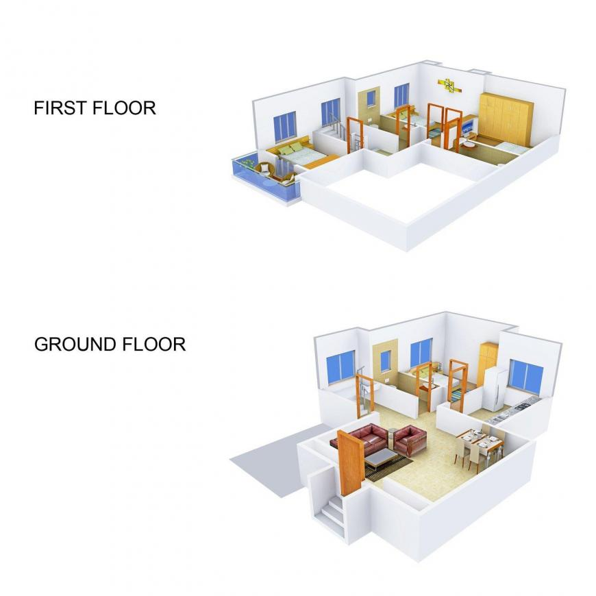 Floor Plan Image of 0 - 2500.0 Sq.ft 4 BHK Villa for buy in Concrete Sweet Homes