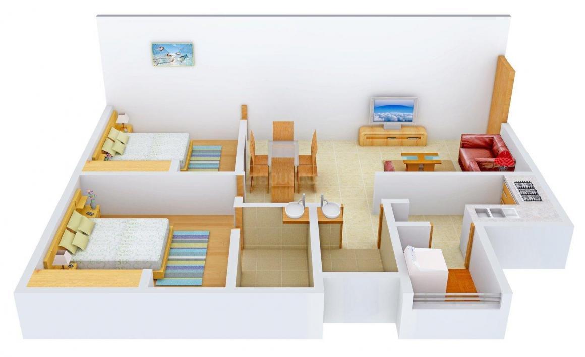 Floor Plan Image of 900 - 960 Sq.ft 2 BHK Apartment for buy in Anjani Residency