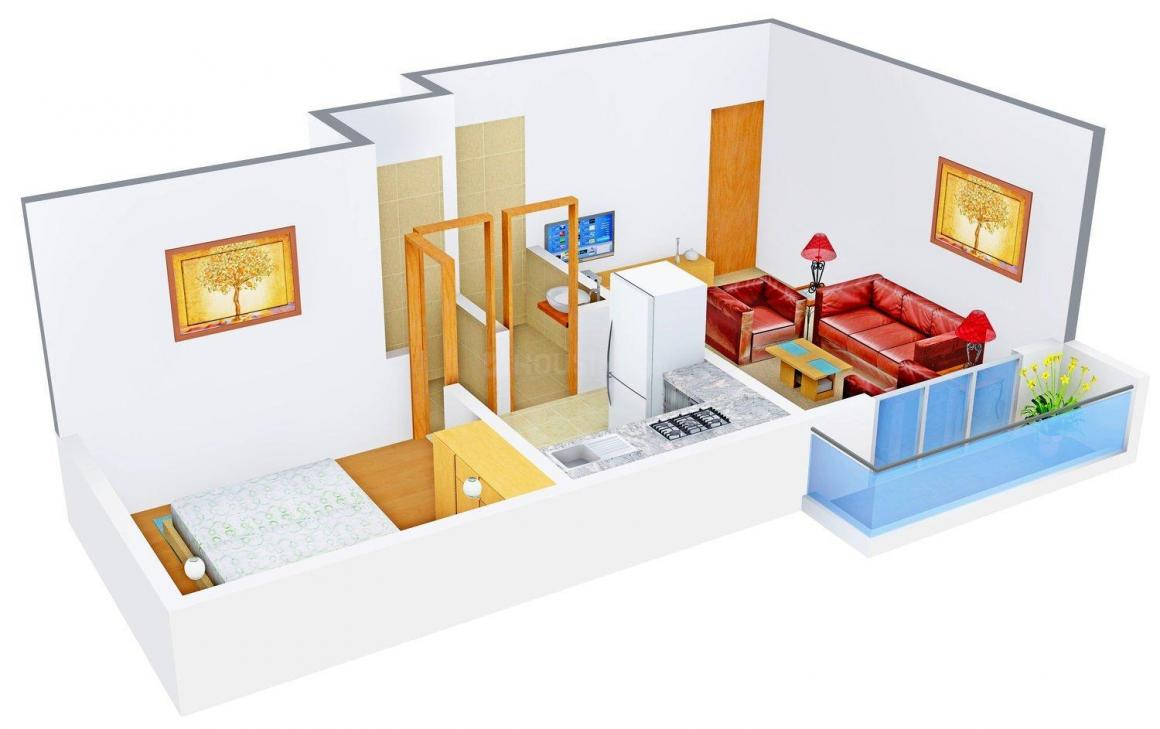 Floor Plan Image of 371.0 - 414.0 Sq.ft 1 BHK Apartment for buy in R.R. Group Vakratund