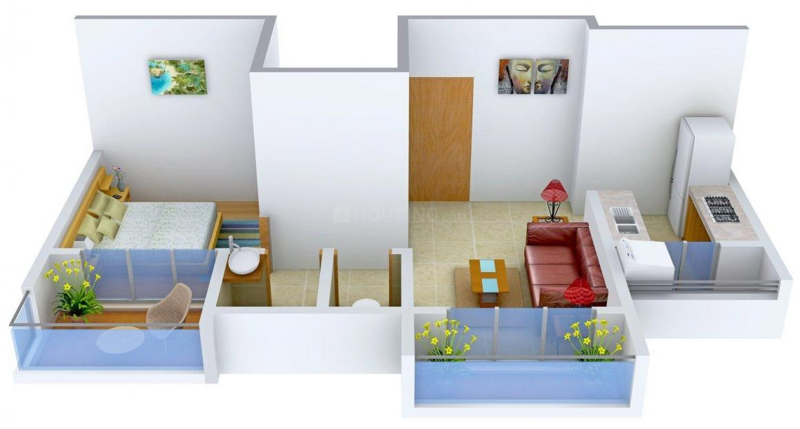 Floor Plan Image of 650.0 - 995.0 Sq.ft 1 BHK Apartment for buy in Dweepmala Baline Royale