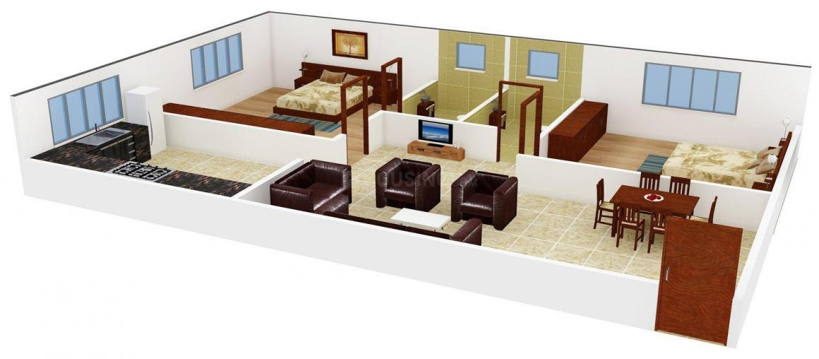 Floor Plan Image of 501.0 - 1027.0 Sq.ft 1 BHK Apartment for buy in CC Pavithram