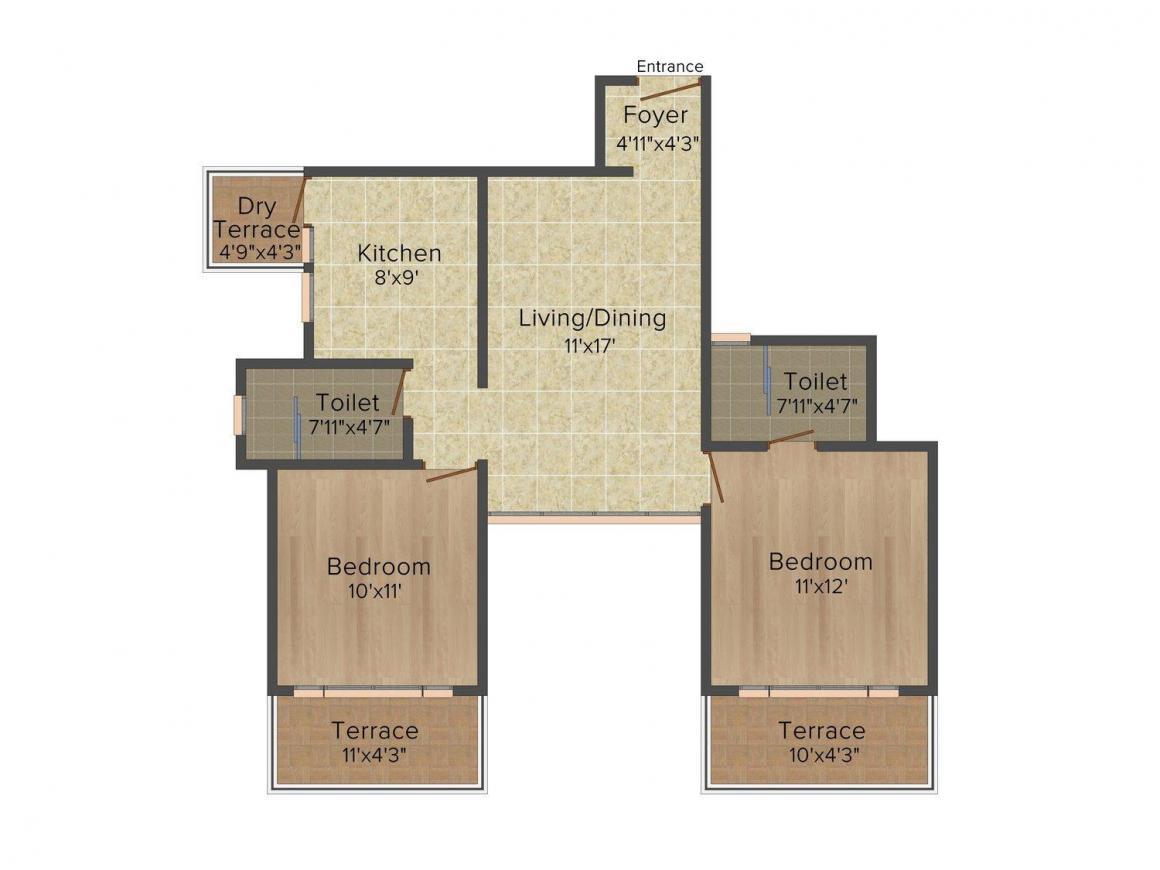 2 BHK Apartment