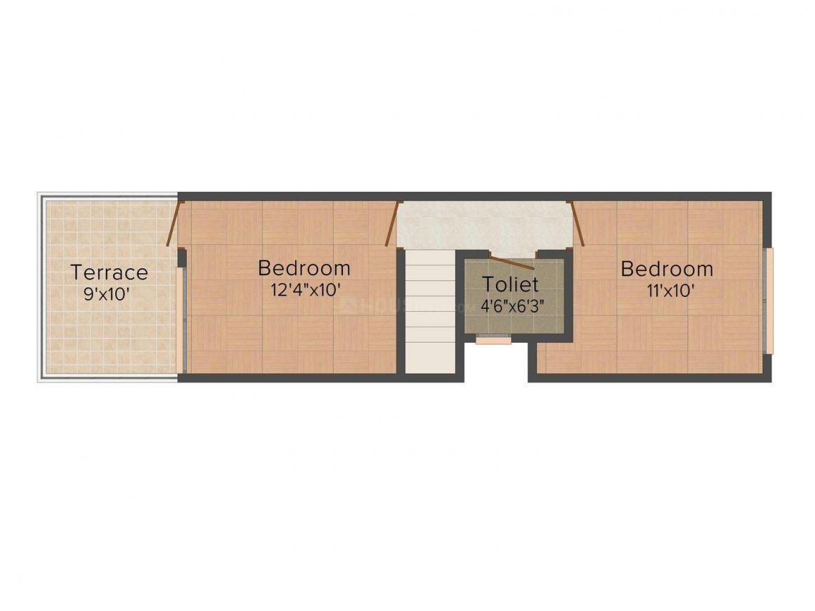 Floor Plan Image of 0 - 1000 Sq.ft 2 BHK Row House for buy in Pearl Park