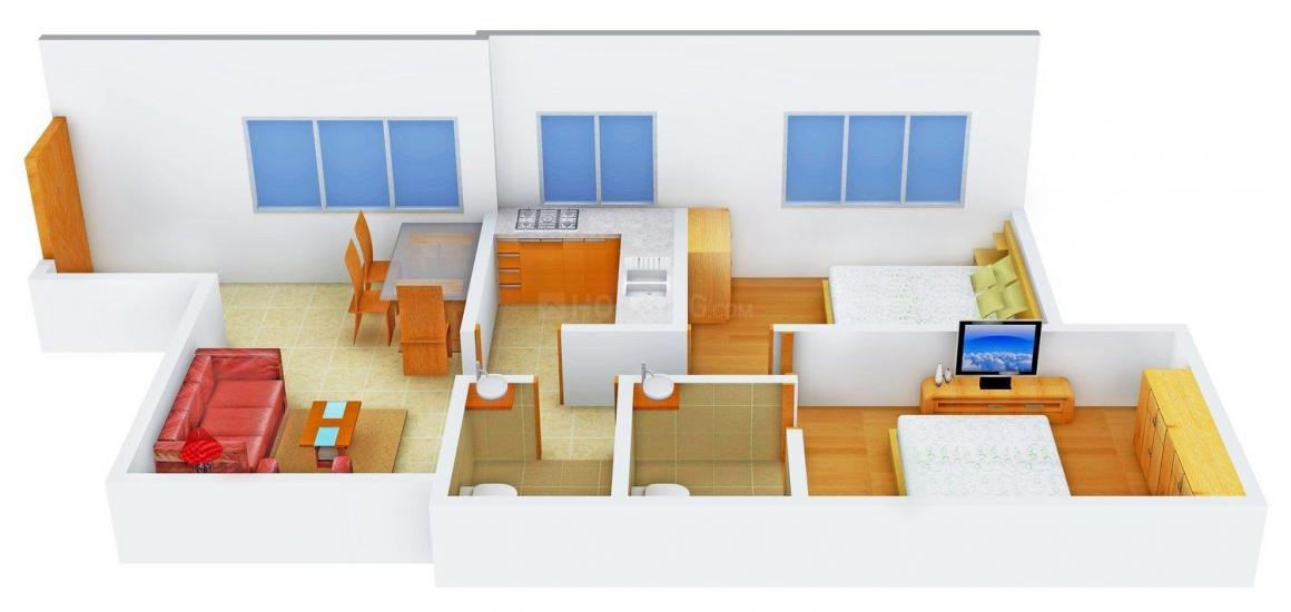 Floor Plan Image of 0 - 1040 Sq.ft 2 BHK Apartment for buy in Kunti Kunj