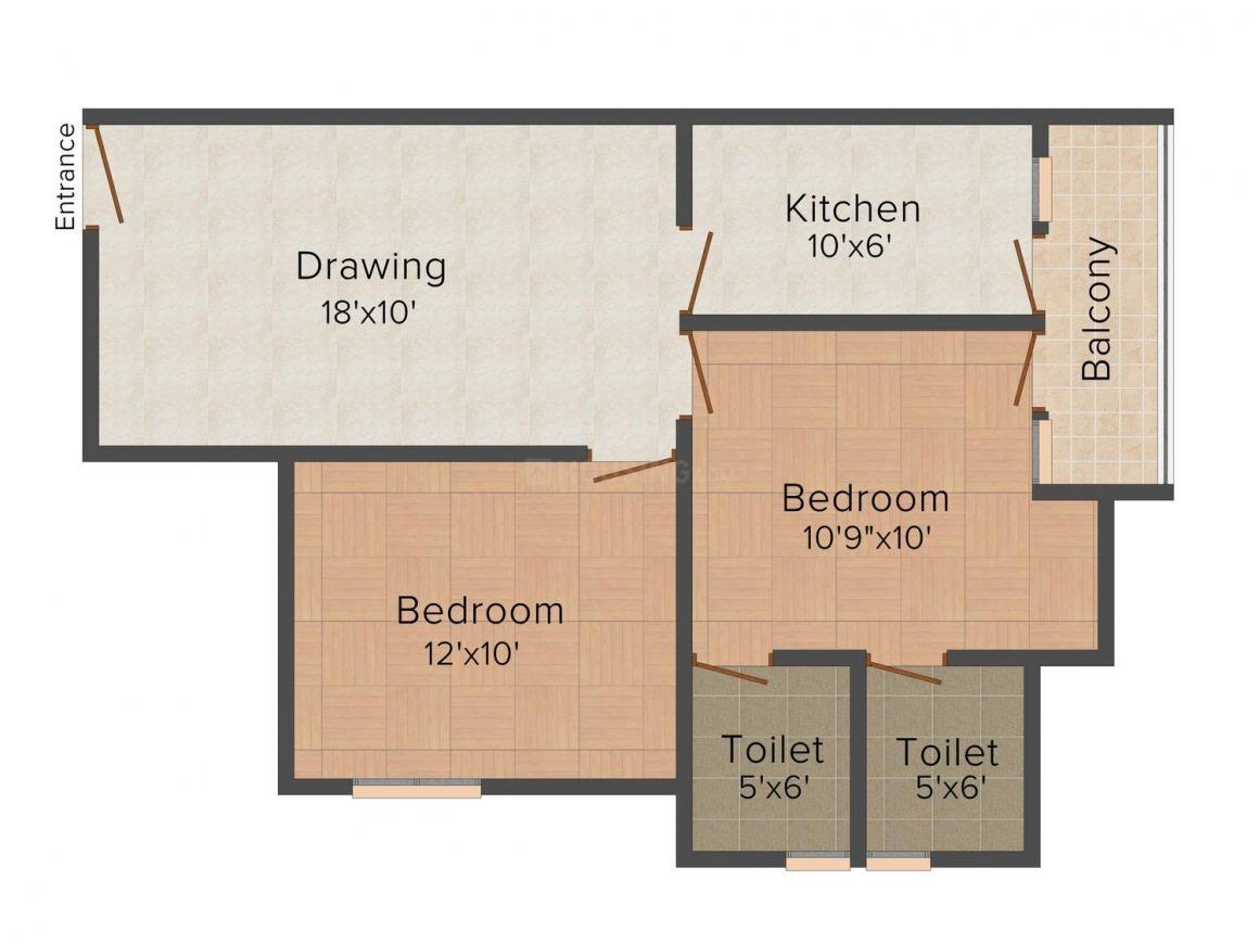 Floor Plan Image of 0 - 1500.0 Sq.ft 2 BHK Villa for buy in Bhagwati Rudraksh Park