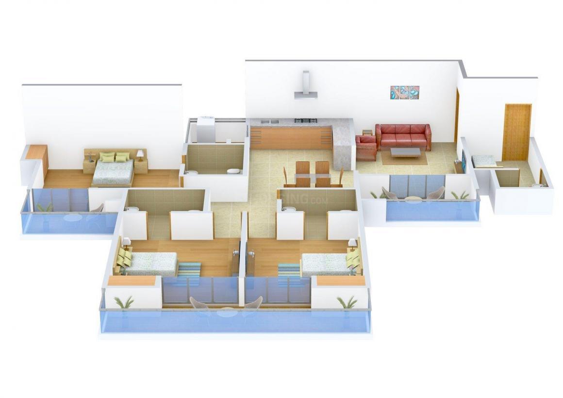 Floor Plan Image of 0 - 2250.0 Sq.ft 3 BHK Independent Floor for buy in Kumar Floors